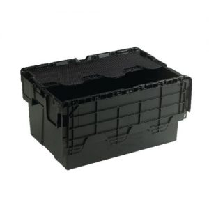 Attached Lid Container 54L Black 375814 - SBY21375