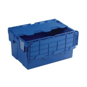 Attached Lid Container 54L Blue 375815 - SBY21376