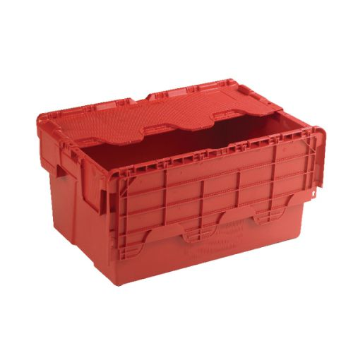 Attached Lid Container 54L Red 375816 - SBY21377