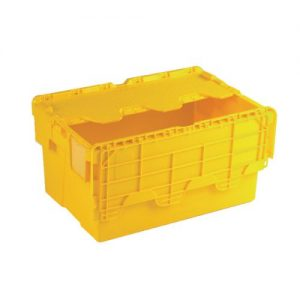 Attached Lid Container 54L Yellow 375817 - SBY21378