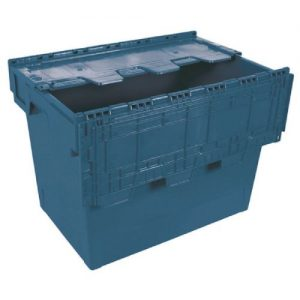 Blue 75 Litre Eurobox With Cover (600 x 400 x 440mm) 388096 - SBY24537