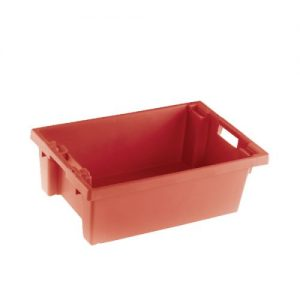 VFM Red Solid Slide Stack/Nesting Container 32 Litre 382958 - SBY24785