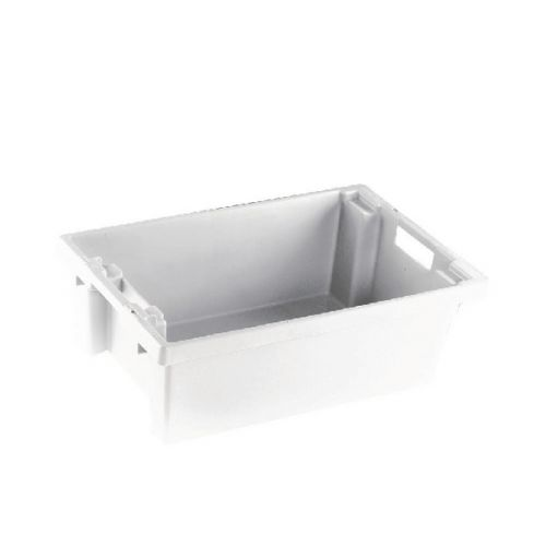 VFM White Solid Slide Stack/Nesting Container 32 Litre 382959 - SBY24786