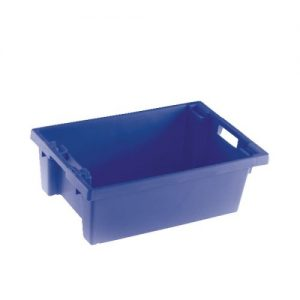 Solid Slide Stack/Nesting Container 600X400X200mm Blue 382960 - SBY24787