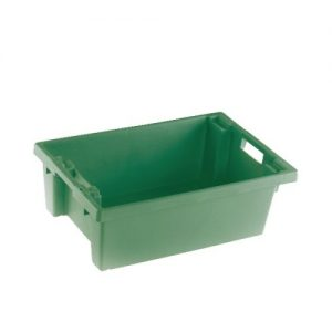 VFM Green Solid Slide Stack/Nesting Container 32 Litre 382961 - SBY24788