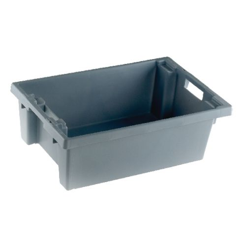 VFM Grey Solid Slide Stack/Nesting Container 32 Litre 382963 - SBY24789
