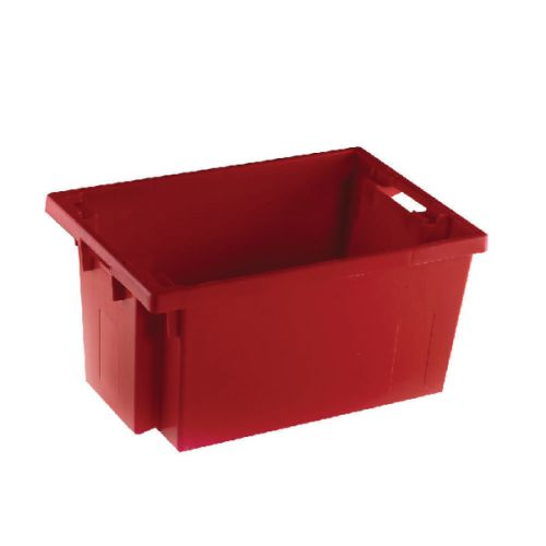 VFM Red Solid Slide Stack/Nesting Container 50 Litre 382964 - SBY24790