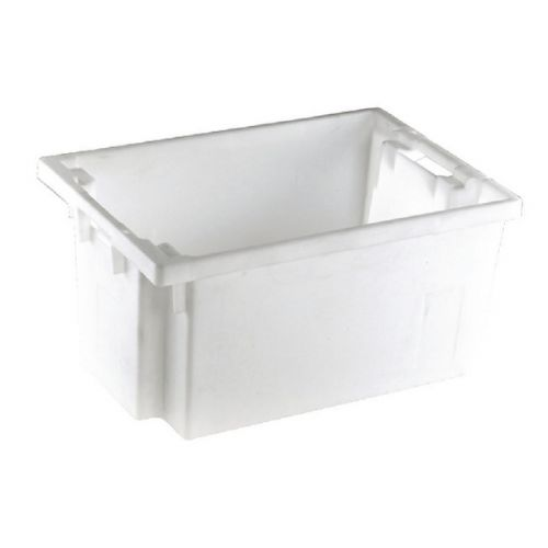 Solid Slide Stack/Nesting Container 600X400X300mm White 382965 - SBY24791