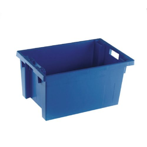 Solid Slide Stack/Nesting Container 600X400X300mm Blue 382966 - SBY24792