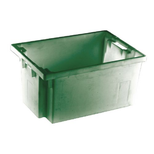 Solid Slide Stack/Nesting Container 600X400X300mm Green 382967 - SBY24793