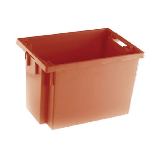 Solid Slide Stack/Nesting Container 600X400X400mm Red 382969 - SBY24795