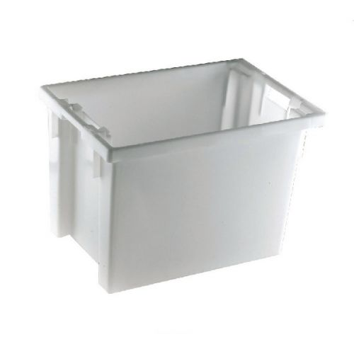 Solid Slide Stack/Nesting Container 600X400X400mm White 382970 - SBY24796