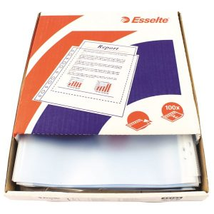 Esselte Pocket Top Opening Embossed A4 Clear (Pack of 100) 23752 - ES23752