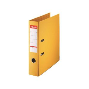Esselte 75mm Lever Arch File Polypropylene A4 Yellow (Pack of 10) 48061 - ES80618