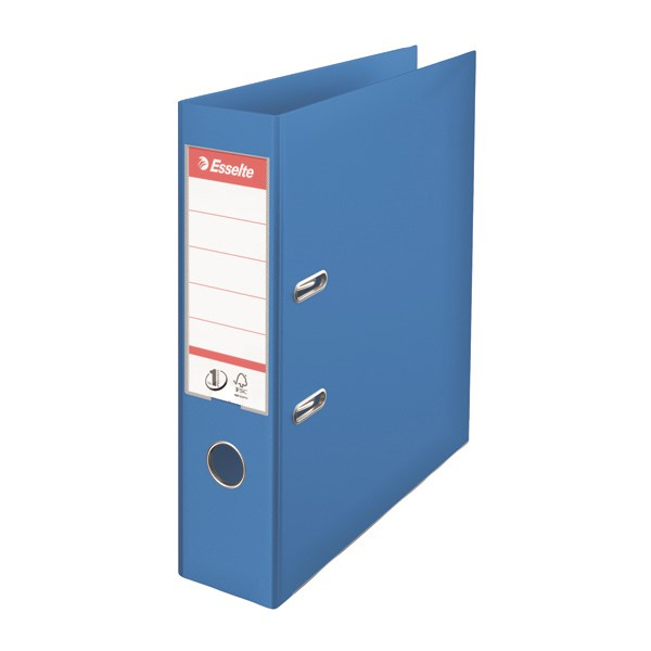 Esselte 75mm Lever Arch File Polypropylene A4 Blue (Pack of 10) 48065 - ES80656