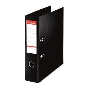 Esselte 75mm Lever Arch File Polypropylene A4 Black (Pack of 10) 48067 - ES80670