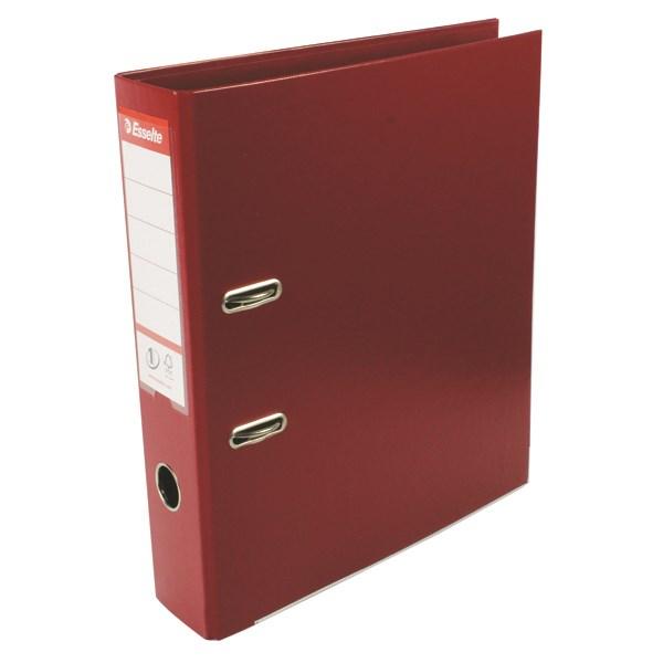 Esselte 75mm Lever Arch File Polypropylene A4 Burgundy (Pack of 10) 48069 - ES80694