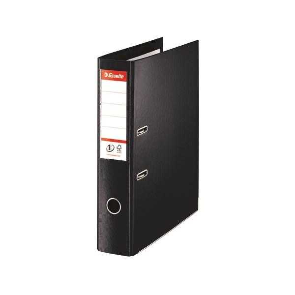 Esselte 75mm Lever Arch File Polypropylene Foolscap Black (Pack of 10) 48087 - ES80878