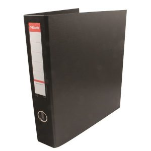 Esselte 4D-Ring Maxi A4 Binder 40mm Black (Features 4 D-ring mechanism and a linen feel cover) 82407 - ES82407