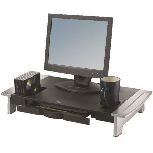 Fellowes Office Suites Premium Monitor Riser Black/Silver 8031001 - BB47096