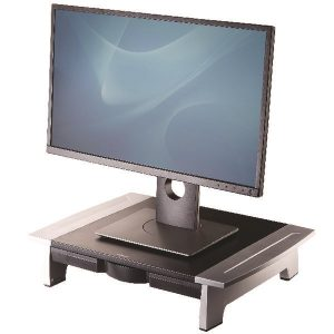 Fellowes Office Suites Standard Monitor Riser Black/Silver 8031101 - BB47097