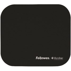 Fellowes Microban Antibacterial Mouse Mat Black 5933905 - BB48718