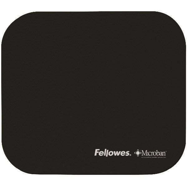 Fellowes Microban Antibacterial Mouse Mat Black 5933905 - BB48718