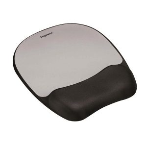 Fellowes Memory Foam Mouse Pad Black/Silver 9175801 - BB49780