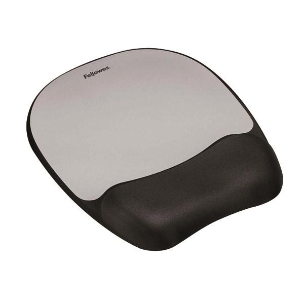 Fellowes Memory Foam Mouse Pad Black/Silver 9175801 - BB49780