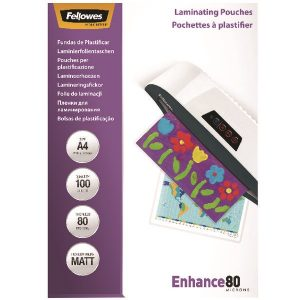 Fellowes A4 Enhance Laminating Pouch Matte (Pack of 100) 5452101 - BB52233