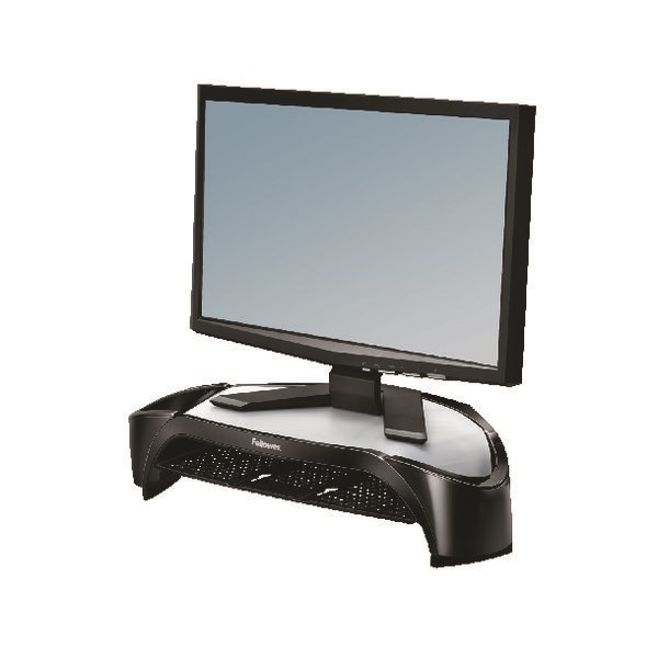 Fellowes Smart Suites Monitor Riser Plus Black/Silver 8020801 - BB52665