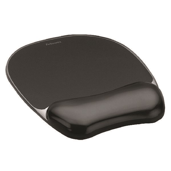 Fellowes Crystals Gel Mouse Pad Black 9112101 - BB52717
