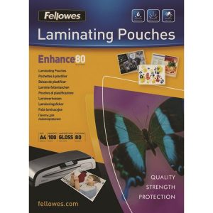 Fellowes A4 Laminating Pouch 160 Micron (Pack of 100) 55306101 - BB53061
