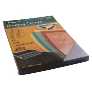 Fellowes Transpsarent Plastic Covers 200 Micron (Pack of 100) 5376101 - BB53761