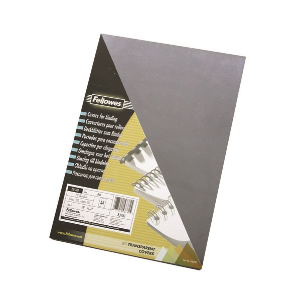 Fellowes Transpsarent Plastic Covers 240 Micron (Pack of 100) 53762 - BB53762