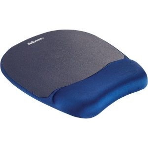 Fellowes Memory Foam Mouse Pad Wrist Support Sapphire Blue 9172801 - BB58907