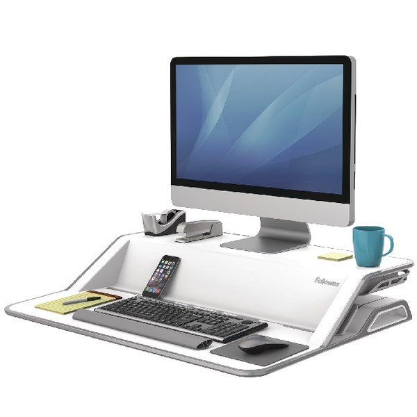 Fellowes Lotus Sit Stand Workstation White 0009901 - BB71890
