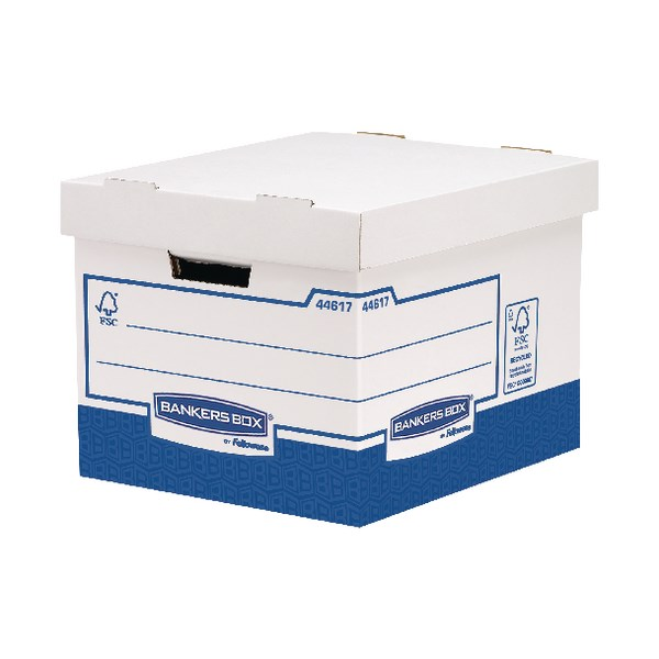 Fellowes Basics Heavy Duty Storage Box Standard (Pack of 10) BB72105 - BB72105