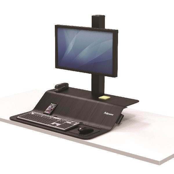 Fellowes Lotus VE Sit-Stand Workstation Single 8080101 - BB72802