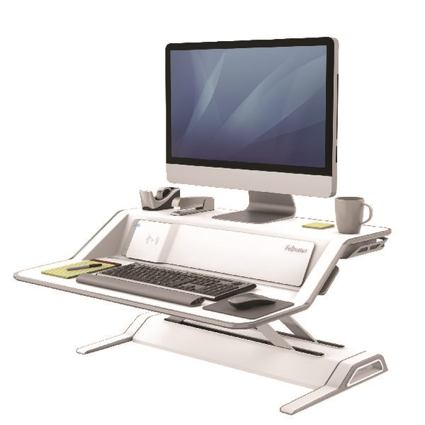 Fellowes Lotus DX Sit-Stand Workstation White 8081101 - BB73082