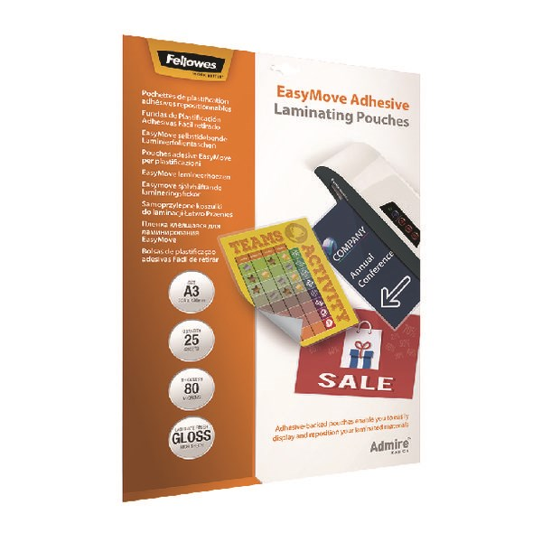 Fellowes Admire EasyMove A3 Laminating Pouches (Pack of 25) 5601801 - BB73084