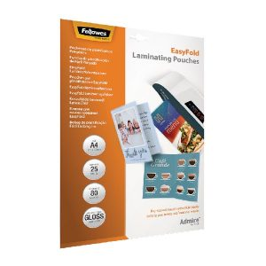 Fellowes Admire EasyFold A4 Laminating Pouches (Pack of 25) 5601901 - BB73085