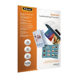 Fellowes Admire EasyFold A3 Laminating Pouches (Pack of 25) 5602001 - BB73086