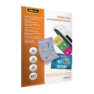 Fellowes Admire A4 Laminating Pouches Matte (Pack of 25) 5602101 - BB73087