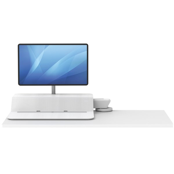 Fellowes Lotus Sit Stand Work Station Single Screen White 8081601 - BB73703