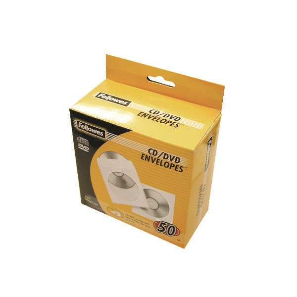 Fellowes CD Envelope Paper White (Pack of 50) 90690 - BB90690