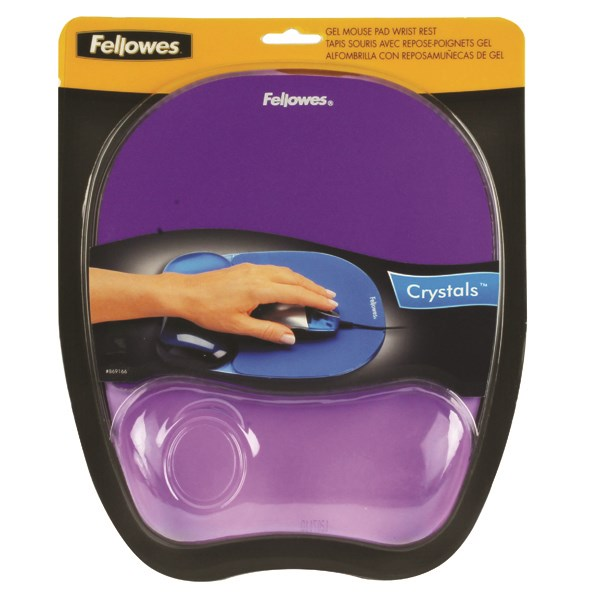 Fellowes Crystals Gel Mouse Pad Purple 9144103 - BB91441
