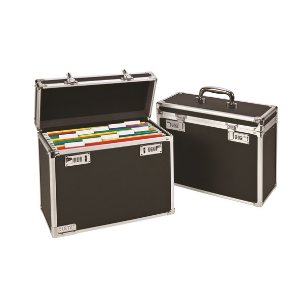 Leitz Mobile Filing Case Upto 15 File Capacity Foolscap Black 67170095 - ES36482