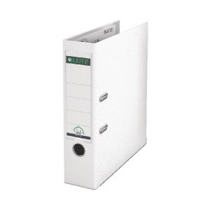 Leitz 180 Lever Arch File Poly 80mm A4 White (Pack of 10) 10101001 - LZ101001