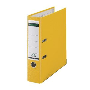 Leitz 180 Lever Arch File Poly 80mm A4 Yellow (Pack of 10) 10101015 - LZ101015